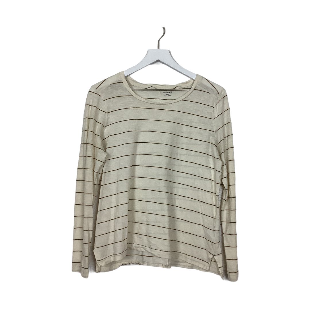 Primary Photo - BRAND: MADEWELL <BR>STYLE: TOP LONG SLEEVE BASIC <BR>COLOR: STRIPED <BR>SIZE: L <BR>SKU: 208-208142-11103<BR>AS IS