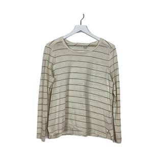 Primary Photo - BRAND: MADEWELL STYLE: TOP LONG SLEEVE BASIC COLOR: STRIPED SIZE: L SKU: 208-208142-11103AS IS
