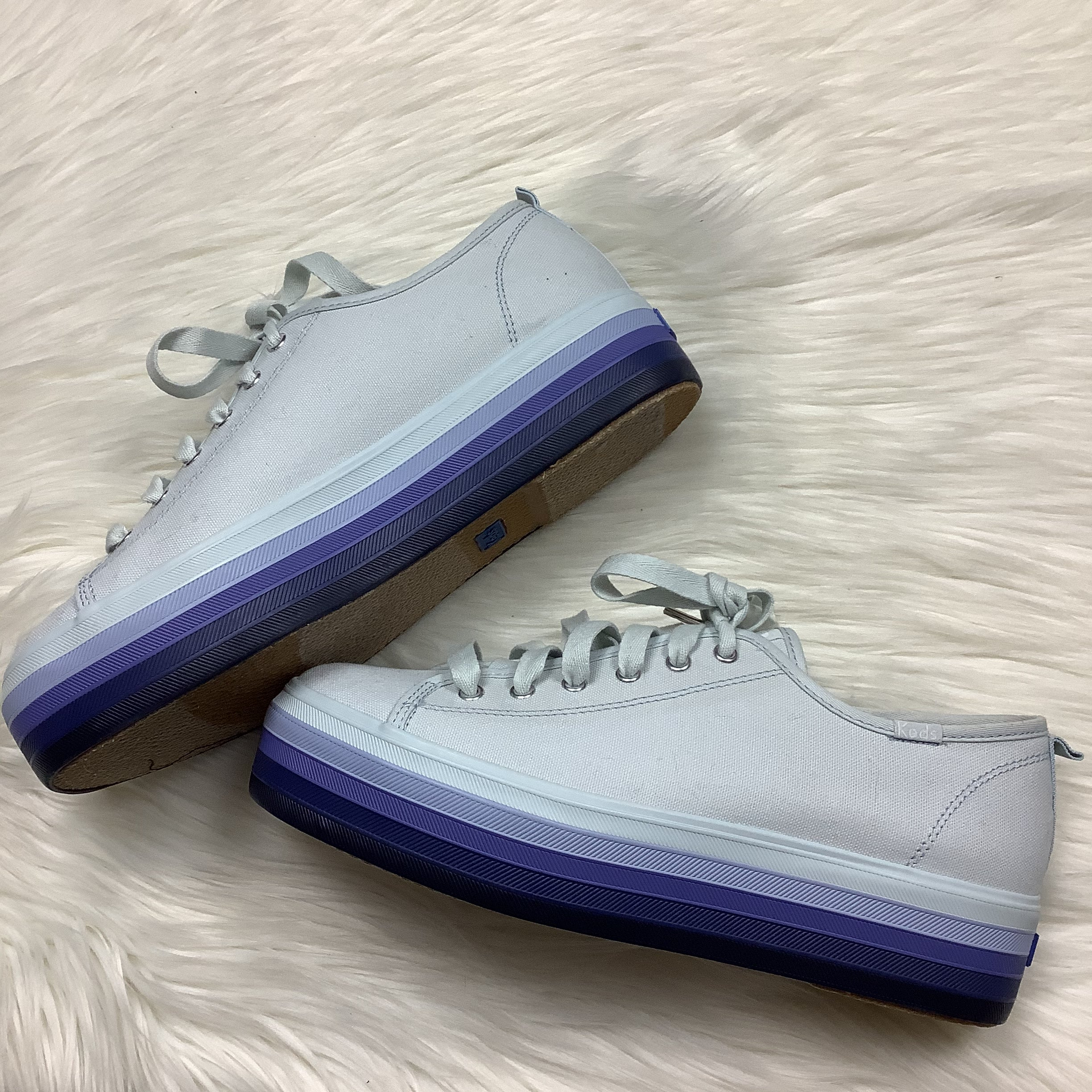 Photo #3 - BRAND: KEDS <BR>STYLE: SHOES ATHLETIC <BR>COLOR: PERIWINKLE <BR>SIZE: 10 <BR>SKU: 208-208162-1958<BR>AS IS