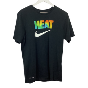 Primary Photo - BRAND: NIKE APPAREL STYLE: ATHLETIC TOP SHORT SLEEVE COLOR: BLACK SIZE: M SKU: 208-208142-12205