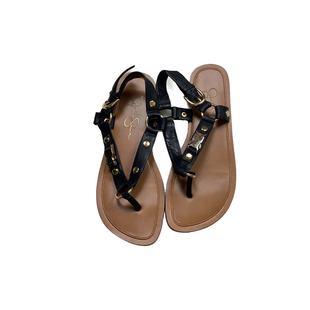 Primary Photo - BRAND: JESSICA SIMPSON STYLE: SANDALS FLAT COLOR: BLACK SIZE: 7 SKU: 208-20831-70681