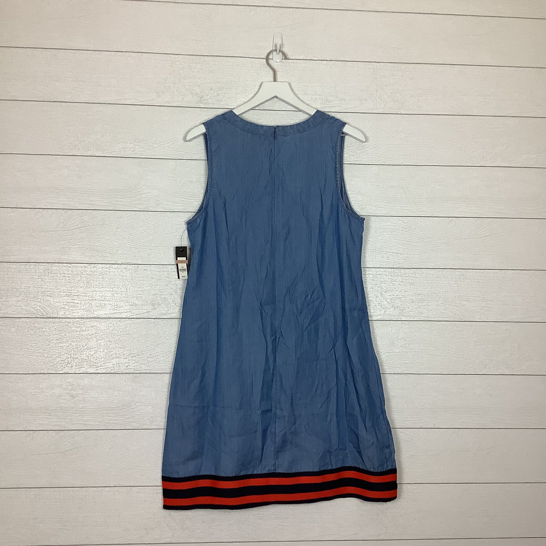 Photo #1 - BRAND: CROWN AND IVY <BR>STYLE: DRESS SHORT SLEEVELESS <BR>COLOR: DENIM <BR>SIZE: L <BR>OTHER INFO: AS IS <BR>SKU: 208-20831-71101