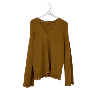 Primary Photo - BRAND: ANTHROPOLOGIE STYLE: SWEATER LIGHTWEIGHT COLOR: MUSTARD SIZE: M SKU: 208-208142-13412