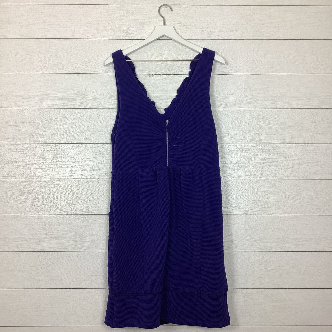 Photo #1 - BRAND: MAEVE <BR>STYLE: DRESS LONG SLEEVELESS <BR>COLOR: BLUE <BR>SIZE: XL <BR>OTHER INFO: AS IS <BR>SKU: 208-208114-40908