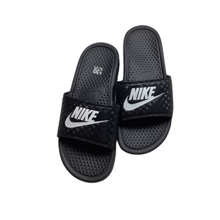 Primary Photo - BRAND: NIKE STYLE: SANDALS FLAT COLOR: BLACK SIZE: 9 OTHER INFO: AS IS - WEAR SKU: 208-208135-8650