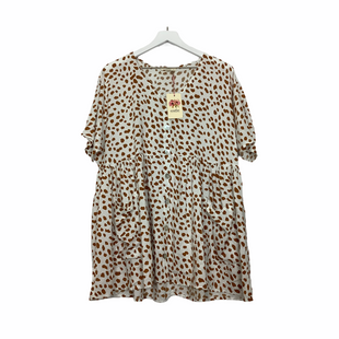 Primary Photo - BRAND: ENTRO STYLE: TOP SHORT SLEEVE COLOR: ANIMAL PRINT SIZE: M SKU: 208-208135-8677