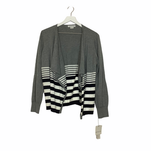Primary Photo - BRAND: LIZ CLAIBORNE STYLE: SWEATER CARDIGAN LIGHTWEIGHT COLOR: GREY SIZE: L SKU: 208-208162-252