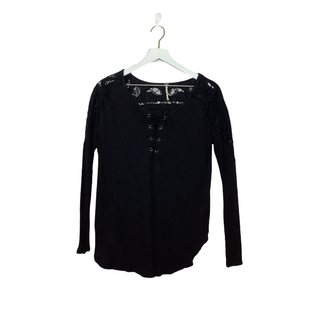 Primary Photo - BRAND: FREE PEOPLE STYLE: TOP LONG SLEEVE COLOR: BLACK SIZE: XS OTHER INFO: AS IS SKU: 208-20831-71292