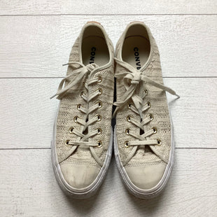 Primary Photo - BRAND: CONVERSE STYLE: SHOES ATHLETIC COLOR: TAN SIZE: 9 OTHER INFO: AS IS - WEAR SKU: 208-208142-7101