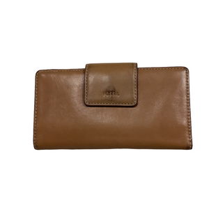 Primary Photo - BRAND: FOSSIL STYLE: WALLET COLOR: BROWN SIZE: MEDIUM OTHER INFO: AS IS - WEAR SKU: 208-208142-13795