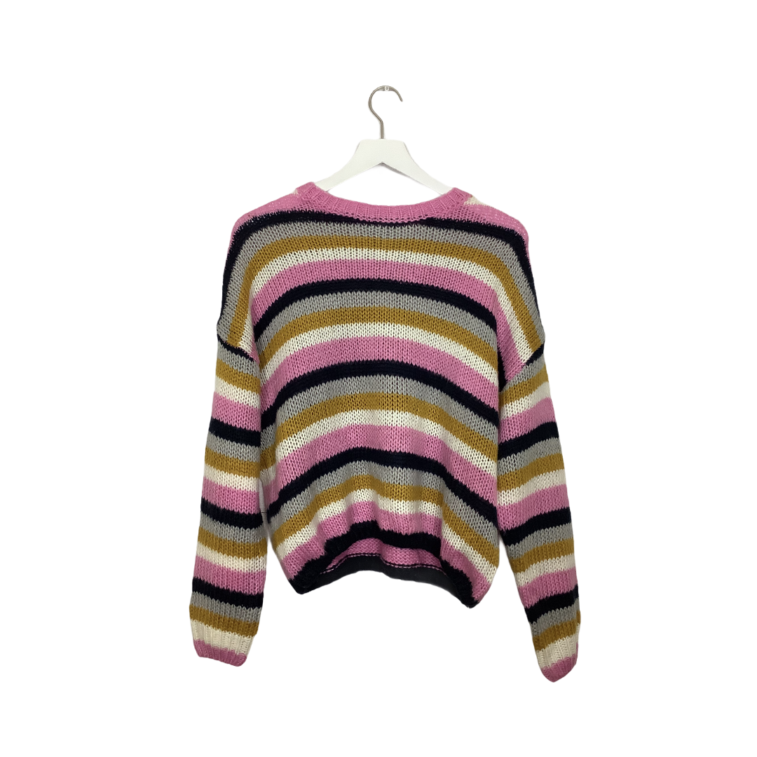 Primary Photo - BRAND: CHARLOTTE RUSSE <BR>STYLE: SWEATER LIGHTWEIGHT <BR>COLOR: STRIPED <BR>SIZE: L <BR>SKU: 208-208114-41005