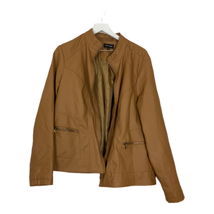 Primary Photo - BRAND: NEW LOOK STYLE: JACKET OUTDOOR COLOR: BROWN SIZE: 2X OTHER INFO: AS IS SKU: 208-208158-1202