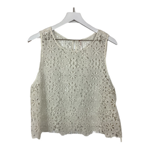 Primary Photo - BRAND: FREE PEOPLE STYLE: TOP SLEEVELESS COLOR: WHITE SIZE: L SKU: 208-208114-43667