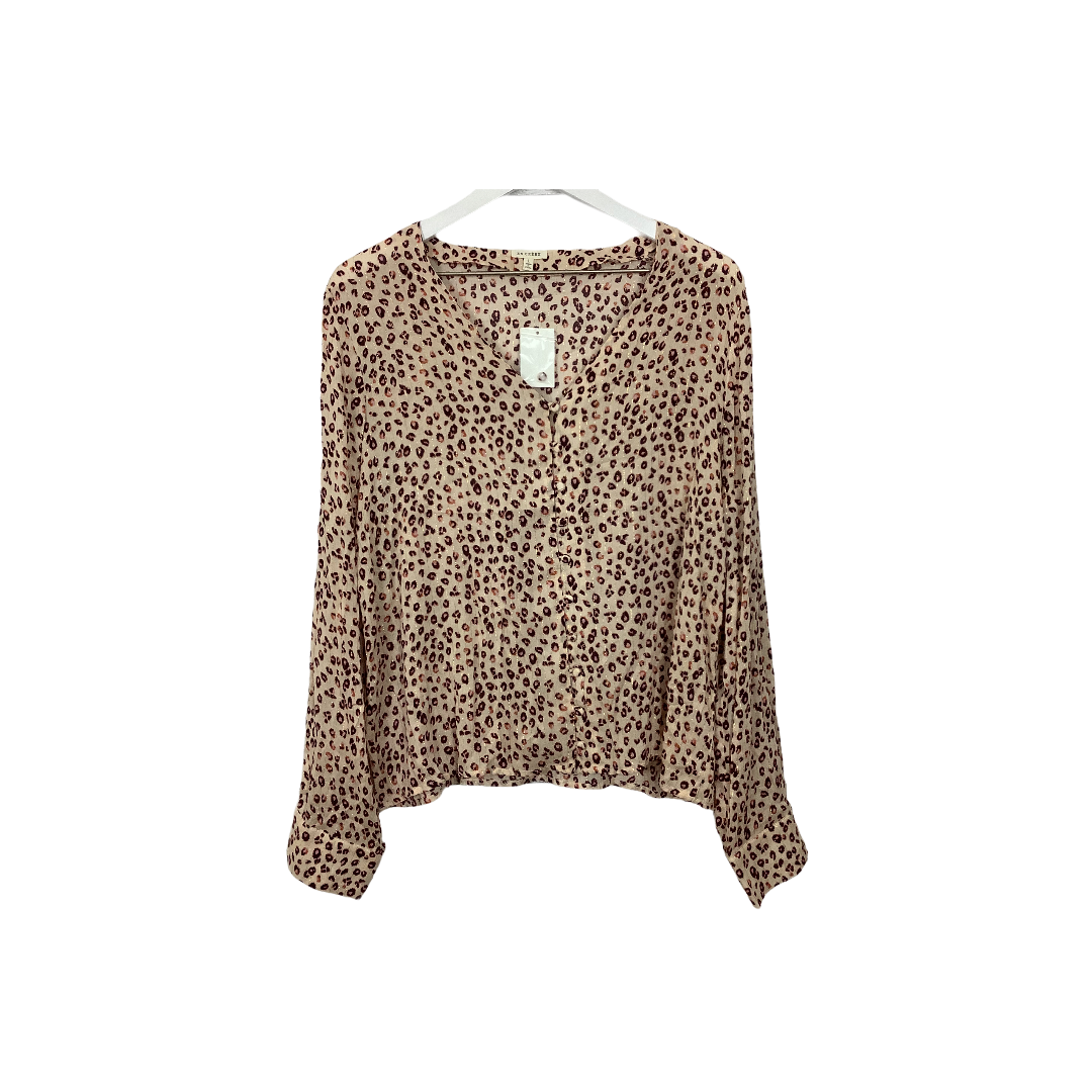 Primary Photo - BRAND: EN CREME <BR>STYLE: TOP LONG SLEEVE <BR>COLOR: ANIMAL PRINT <BR>SIZE: L <BR>SKU: 208-208131-25260
