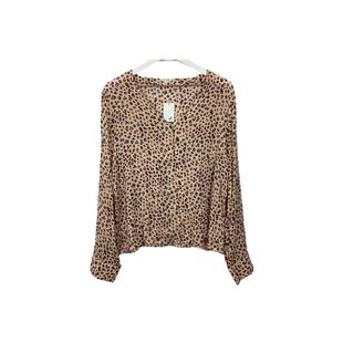 Primary Photo - BRAND: EN CREME STYLE: TOP LONG SLEEVE COLOR: ANIMAL PRINT SIZE: L SKU: 208-208131-25260