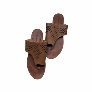 Primary Photo - BRAND: LUCKY BRAND STYLE: SANDALS FLAT COLOR: BROWN SIZE: 9 SKU: 208-208162-1838