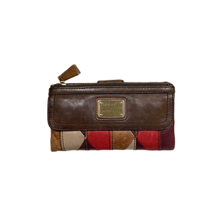 Primary Photo - BRAND: FOSSIL STYLE: WALLET COLOR: BROWN SIZE: SMALL SKU: 208-208114-41071AS IS