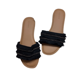 Primary Photo - BRAND: OLD NAVY STYLE: SANDALS FLAT COLOR: BLACK SIZE: 7 SKU: 208-208114-39925