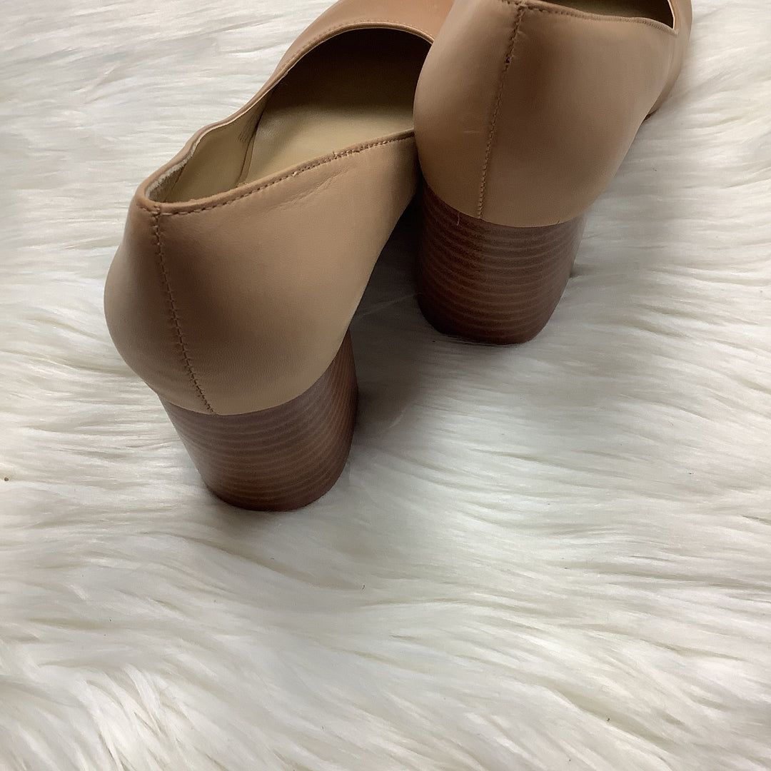 Photo #4 - BRAND: ADRIENNE VITTADINI <BR>STYLE: SHOES HIGH HEEL <BR>COLOR: TAN <BR>SIZE: 8 <BR>SKU: 208-208114-41903