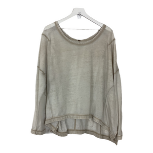 Primary Photo - BRAND: FREE PEOPLE STYLE: TOP LONG SLEEVE COLOR: CREAM OTHER INFO: AS IS - WEAR SKU: 208-208142-13419