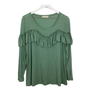 Primary Photo - BRAND: ENTRO STYLE: TOP LONG SLEEVE COLOR: GREEN SIZE: L SKU: 208-208135-9553