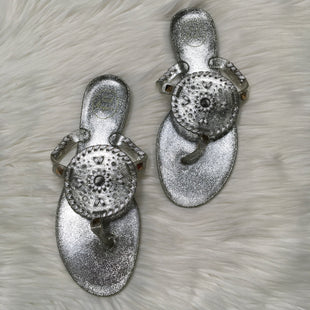Primary Photo - BRAND: JACK ROGERS STYLE: SANDALS FLAT COLOR: SILVER SIZE: 10 OTHER INFO: AS IS SKU: 208-208131-16889