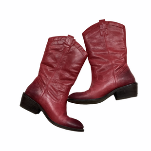 Primary Photo - BRAND: JESSICA SIMPSON STYLE: BOOTS ANKLE COLOR: RED SIZE: 7.5 SKU: 208-208142-10707