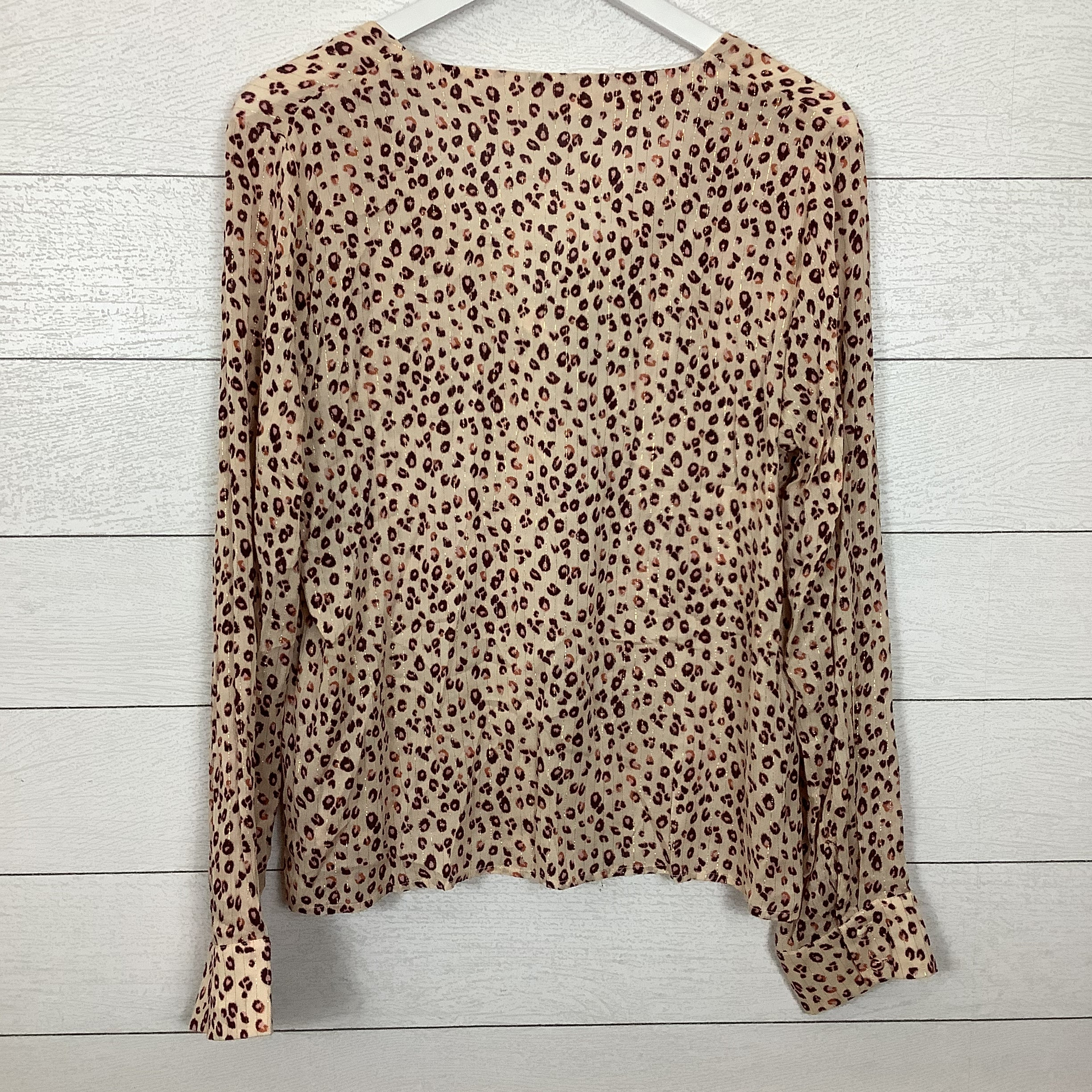 Photo #1 - BRAND: EN CREME <BR>STYLE: TOP LONG SLEEVE <BR>COLOR: ANIMAL PRINT <BR>SIZE: L <BR>SKU: 208-208131-25260