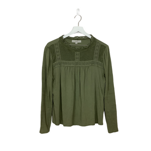 Primary Photo - BRAND: ANN TAYLOR LOFT STYLE: TOP LONG SLEEVE COLOR: OLIVE SIZE: L SKU: 208-208142-11109AS IS