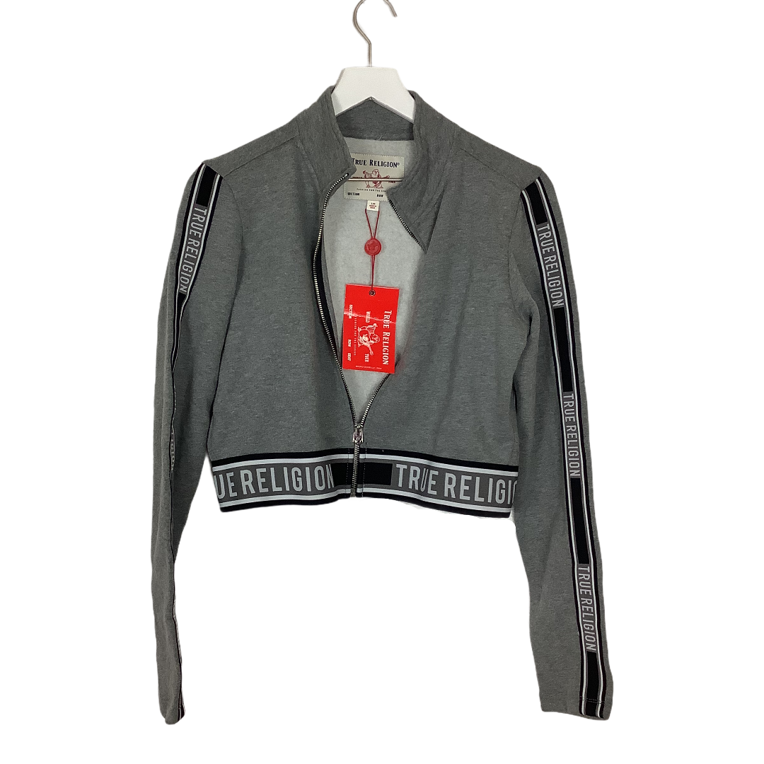 Primary Photo - BRAND: TRUE RELIGION <BR>STYLE: ATHLETIC JACKET <BR>COLOR: GREY <BR>SIZE: L <BR>SKU: 208-208142-13029