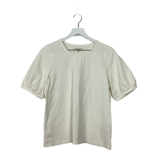 Primary Photo - BRAND: MADEWELL STYLE: TOP SHORT SLEEVE BASIC COLOR: CREAM SIZE: M SKU: 208-208135-8586
