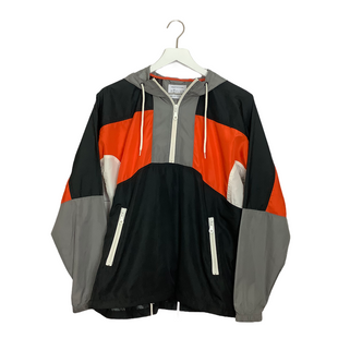 Primary Photo - BRAND: URBAN OUTFITTERS STYLE: ATHLETIC JACKET COLOR: ORANGE BLACK SIZE: S OTHER INFO: AS IS SKU: 208-208131-19033