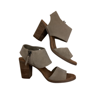 Primary Photo - BRAND: TOMS STYLE: SHOES HIGH HEEL COLOR: TAN SIZE: 7 SKU: 208-208163-411