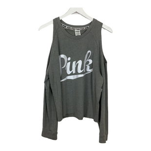 Primary Photo - BRAND: PINK STYLE: TOP LONG SLEEVE COLOR: GREY SIZE: L OTHER INFO: AS IS - WEAR SKU: 208-208114-42804