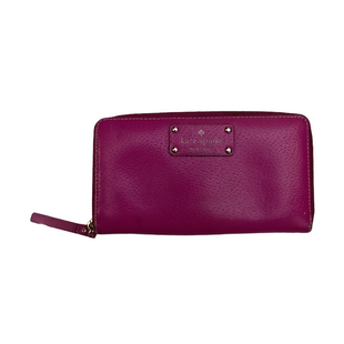 Primary Photo - BRAND: KATE SPADE STYLE: WALLET COLOR: PURPLE SIZE: MEDIUM OTHER INFO: AS IS-WEAR SKU: 208-208131-25277