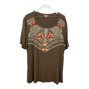 Primary Photo - BRAND: JODIFL STYLE: TOP SHORT SLEEVE COLOR: BROWN SIZE: 3X SKU: 208-208165-477
