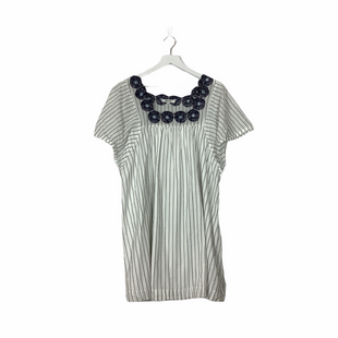 Primary Photo - BRAND: MADEWELL STYLE: DRESS SHORT SHORT SLEEVE COLOR: WHITE BLUE SIZE: L SKU: 208-208114-40600