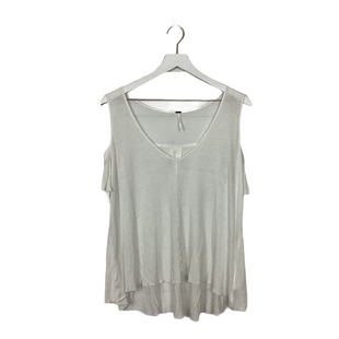 Primary Photo - BRAND: FREE PEOPLE STYLE: TOP SHORT SLEEVE COLOR: WHITE SIZE: M SKU: 208-208131-20975