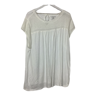 Primary Photo - BRAND: ANN TAYLOR LOFT STYLE: TOP SHORT SLEEVE COLOR: WHITE SIZE: 3X SKU: 208-208135-9165