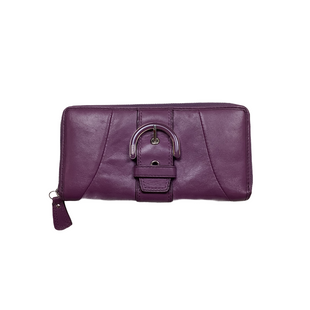 Primary Photo - BRAND: COACH STYLE: WALLET COLOR: PURPLE SIZE: MEDIUM SKU: 208-20889-13794AS IS