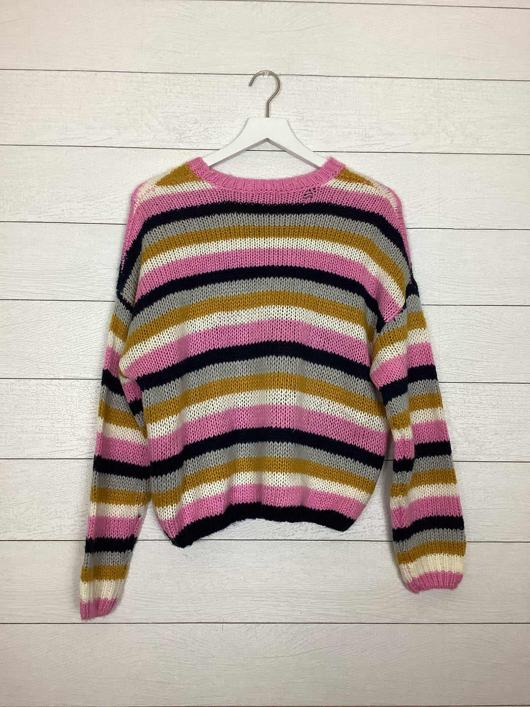 Photo #1 - BRAND: CHARLOTTE RUSSE <BR>STYLE: SWEATER LIGHTWEIGHT <BR>COLOR: STRIPED <BR>SIZE: L <BR>SKU: 208-208114-41005