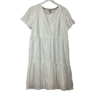 Primary Photo - BRAND: KNOX ROSE STYLE: DRESS SHORT SHORT SLEEVE COLOR: WHITE SIZE: L SKU: 208-20831-72387
