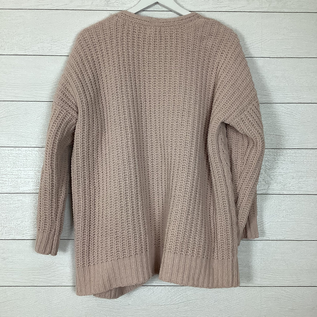Photo #1 - BRAND: CUPIO <BR>STYLE: SWEATER CARDIGAN LIGHTWEIGHT <BR>COLOR: PINK <BR>SIZE: L <BR>SKU: 208-208142-9913