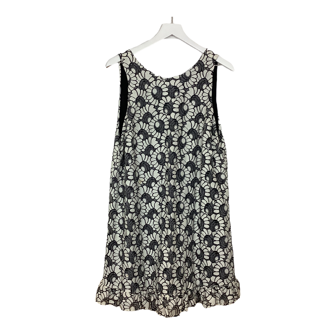 Primary Photo - BRAND: FREE PEOPLE <BR>STYLE: DRESS SHORT SHORT SLEEVE <BR>COLOR: WHITE BLACK <BR>SIZE: L <BR>SKU: 208-208165-1510