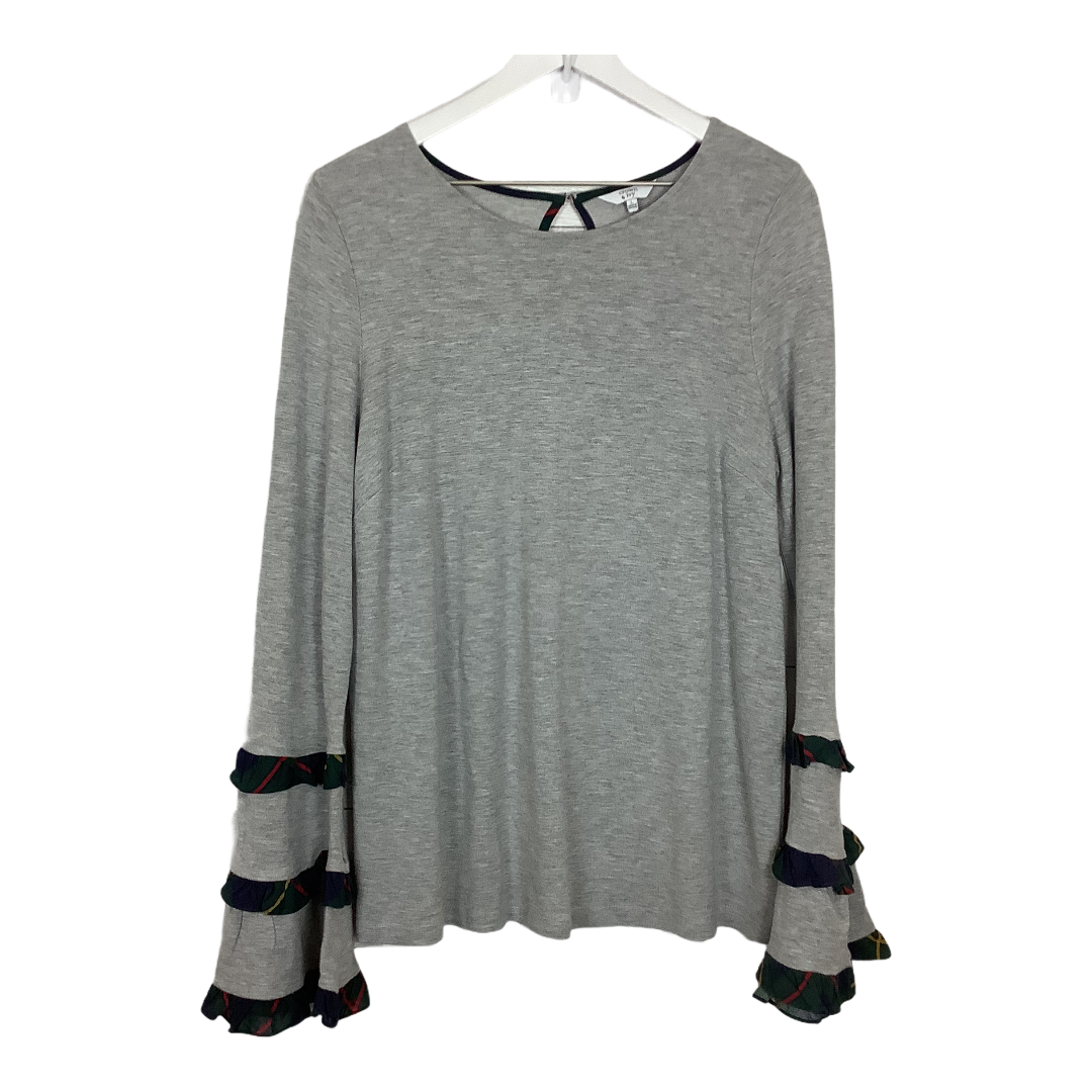 Primary Photo - BRAND: CROWN AND IVY <BR>STYLE: TOP LONG SLEEVE <BR>COLOR: GREY <BR>SIZE: L <BR>SKU: 208-208114-41376