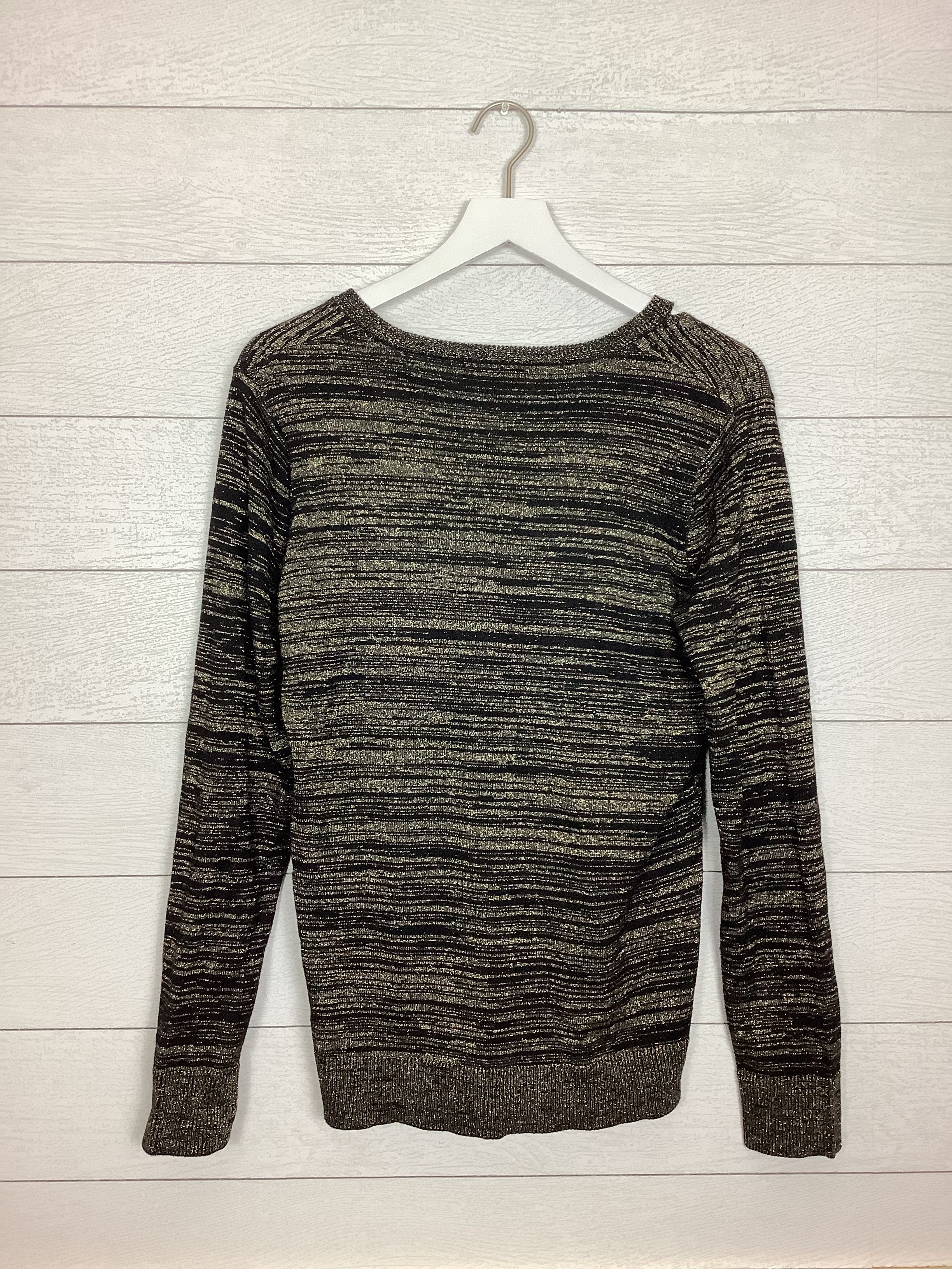 Photo #1 - BRAND: CARMEN BY CARMEN MARC VALVO <BR>STYLE: TOP LONG SLEEVE <BR>COLOR: BLACK <BR>SIZE: L <BR>SKU: 208-208158-744