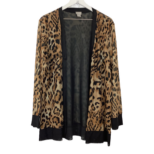 Primary Photo - BRAND: CHICOS O STYLE: SWEATER CARDIGAN LIGHTWEIGHT COLOR: ANIMAL PRINT SIZE: XL SKU: 208-208113-33312
