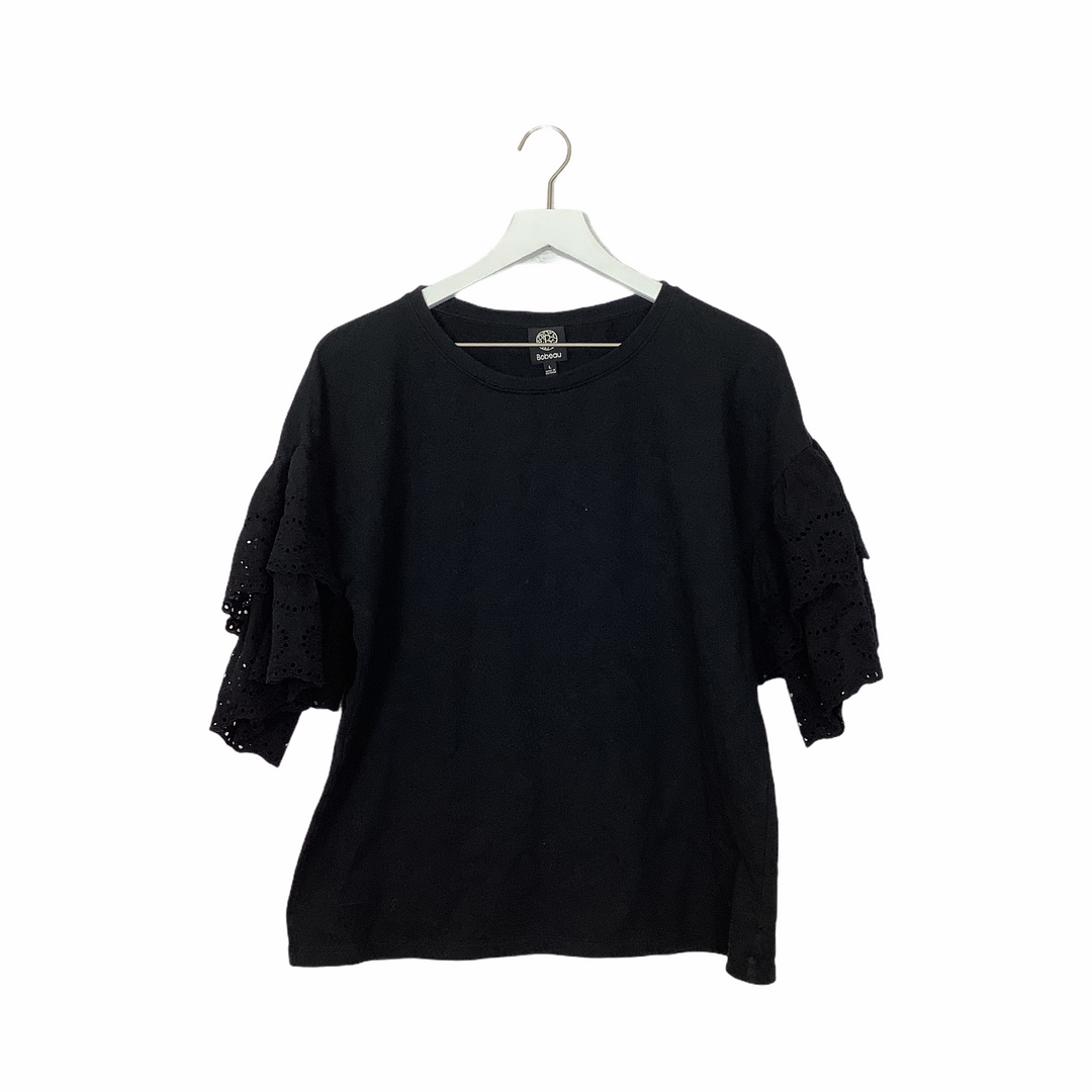 Primary Photo - BRAND: BOBEAU <BR>STYLE: TOP SHORT SLEEVE <BR>COLOR: BLACK <BR>SIZE: L <BR>SKU: 208-208162-1830