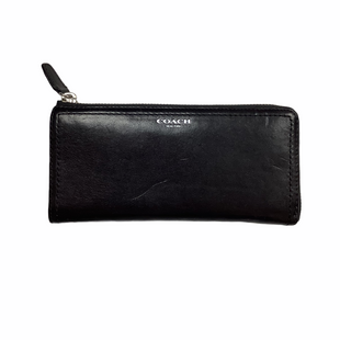 Primary Photo - BRAND: COACH STYLE: WALLET COLOR: BLACK SIZE: MEDIUM SKU: 208-208114-40646AS IS