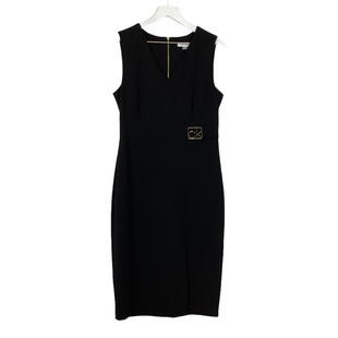 Primary Photo - BRAND: CALVIN KLEIN STYLE: DRESS SHORT SLEEVELESS COLOR: BLACK SIZE: M SKU: 208-208169-37